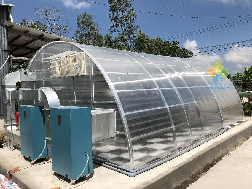 Bộ phận cấp nhiệt của nhà sấy năng lượng mặt trời