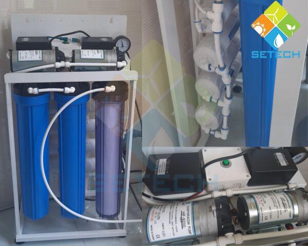 Máy lọc nước mặn RO lắp đặt tại nhà Chị Trang - Long An