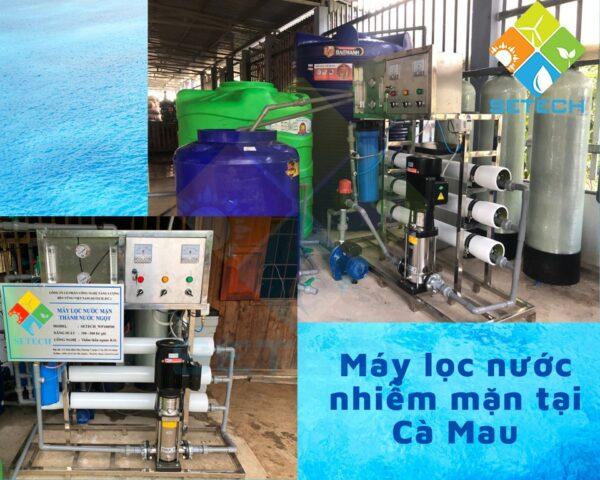 Máy lọc nước mặn lắp đặt tại Cà Mau