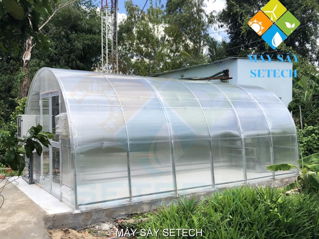 Máy sấy năng lượng mặt trời quy mô 300-500kg tươi/mẻ tại Hậu Giang